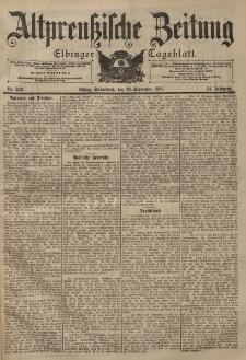 Altpreussische Zeitung, Nr. 230 Sonnabend 30 September 1899, 51. Jahrgang