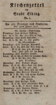 Kirchenzettel der Stadt Elbing, Nr. 5, 25 Januar 1801