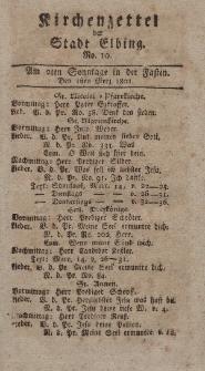 Kirchenzettel der Stadt Elbing, Nr. 10, 1 März 1801