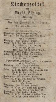 Kirchenzettel der Stadt Elbing, Nr. 14, 29 März 1801