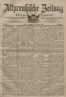 Altpreussische Zeitung, Nr. 233 Mittwoch 4 Oktober 1899, 51. Jahrgang