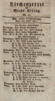 Kirchenzettel der Stadt Elbing, Nr. 16, 5 April 1801