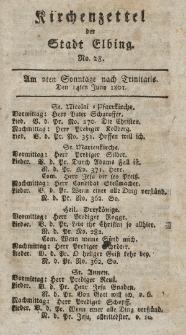 Kirchenzettel der Stadt Elbing, Nr. 28, 14 Juni 1801
