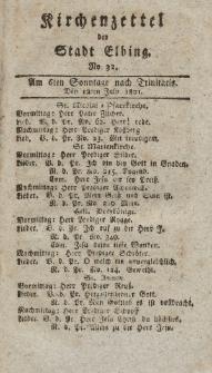 Kirchenzettel der Stadt Elbing, Nr. 32, 12 Juli 1801