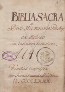 Biblia integra: summata: distincta: accuratius reemendata utriusque testamenti concordantiis illustrata