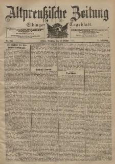 Altpreussische Zeitung, Nr. 238 Dienstag 10 Oktober 1899, 51. Jahrgang