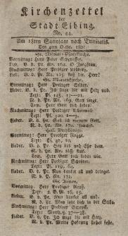 Kirchenzettel der Stadt Elbing, Nr. 44, 4 Oktober 1801