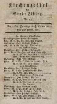 Kirchenzettel der Stadt Elbing, Nr. 48, 1 November 1801