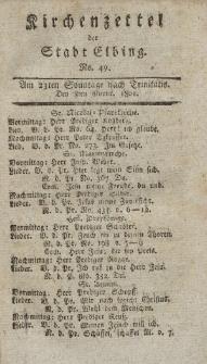 Kirchenzettel der Stadt Elbing, Nr. 49, 8 November 1801