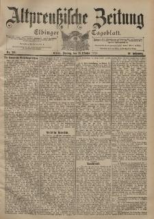 Altpreussische Zeitung, Nr. 241 Freitag 13 Oktober 1899, 51. Jahrgang