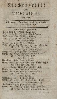 Kirchenzettel der Stadt Elbing, Nr. 50, 15 November 1801