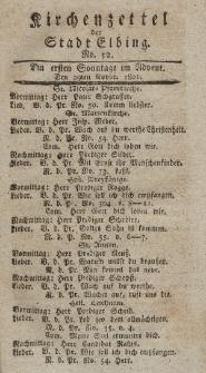 Kirchenzettel der Stadt Elbing, Nr. 52, 29 November 1801