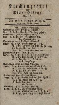 Kirchenzettel der Stadt Elbing, Nr. 56, 25 Dezember 1801