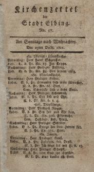 Kirchenzettel der Stadt Elbing, Nr. 57, 27 Dezember 1801