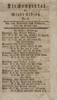 Kirchenzettel der Stadt Elbing, Nr. 7, 7 Februar 1802