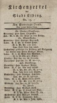 Kirchenzettel der Stadt Elbing, Nr. 13, 21 März 1802