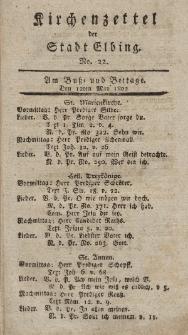 Kirchenzettel der Stadt Elbing, Nr. 22, 12 Mai 1802