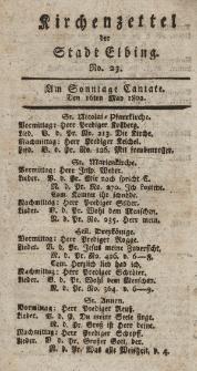 Kirchenzettel der Stadt Elbing, Nr. 23, 16 Mai 1802