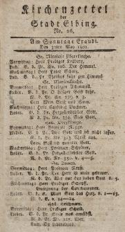Kirchenzettel der Stadt Elbing, Nr. 26, 30 Mai 1802
