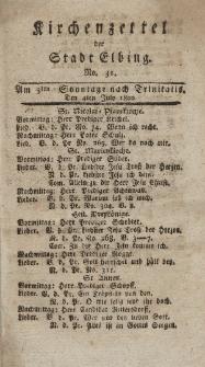 Kirchenzettel der Stadt Elbing, Nr. 31, 4 Juli 1802