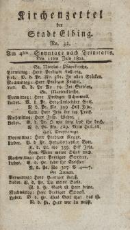 Kirchenzettel der Stadt Elbing, Nr. 32, 11 Juli 1802