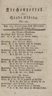 Kirchenzettel der Stadt Elbing, Nr. 52, 28 November 1802
