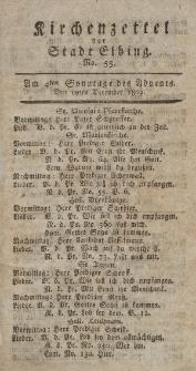 Kirchenzettel der Stadt Elbing, Nr. 55, 19 Dezember 1802