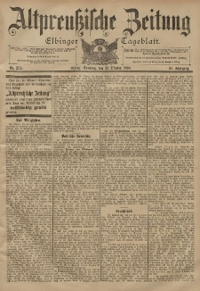 Altpreussische Zeitung, Nr. 255 Sonntag 29 Oktober 1899, 51. Jahrgang