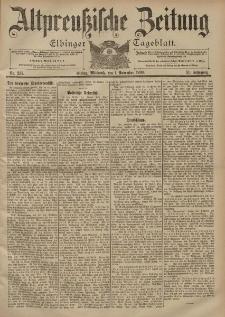 Altpreussische Zeitung, Nr. 257 Mittwoch 1 November 1899, 51. Jahrgang