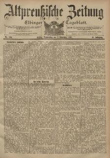 Altpreussische Zeitung, Nr. 258 Donnerstag 2 November 1899, 51. Jahrgang