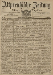 Altpreussische Zeitung, Nr. 261 Sonntag 5 November 1899, 51. Jahrgang