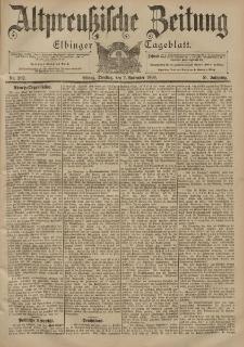 Altpreussische Zeitung, Nr. 262 Dienstag 7 November 1899, 51. Jahrgang