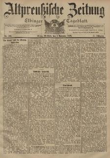 Altpreussische Zeitung, Nr. 263 Mittwoch 8 November 1899, 51. Jahrgang