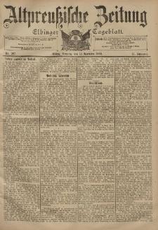 Altpreussische Zeitung, Nr. 267 Sonntag 12 November 1899, 51. Jahrgang