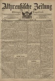 Altpreussische Zeitung, Nr. 268 Dienstag 14 November 1899, 51. Jahrgang