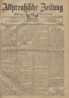 Altpreussische Zeitung, Nr. 270 Donnerstag 16 November 1899, 51. Jahrgang