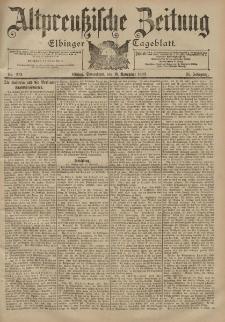 Altpreussische Zeitung, Nr. 272 Sonnabend 18 November 1899, 51. Jahrgang
