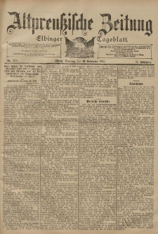 Altpreussische Zeitung, Nr. 273 Sonntag 19 November 1899, 51. Jahrgang