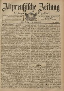 Altpreussische Zeitung, Nr. 274 Dienstag 21 November 1899, 51. Jahrgang