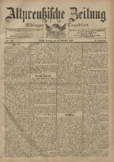 Altpreussische Zeitung, Nr. 276 Freitag 24 November 1899, 51. Jahrgang