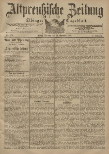Altpreussische Zeitung, Nr. 278 Sonntag 26 November 1899, 51. Jahrgang