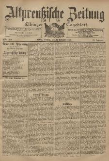 Altpreussische Zeitung, Nr. 279 Dienstag 28 November 1899, 51. Jahrgang