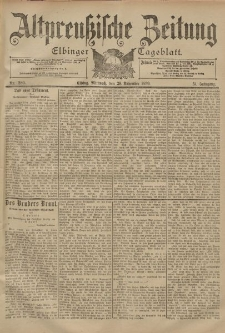 Altpreussische Zeitung, Nr. 280 Mittwoch 29 November 1899, 51. Jahrgang