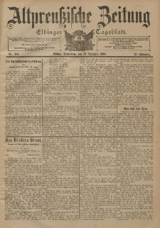 Altpreussische Zeitung, Nr. 301 Sonnabend 23 Dezember 1899, 51. Jahrgang