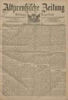 Altpreussische Zeitung, Nr. 7 Mittwoch 10 Januar 1900, 52. Jahrgang