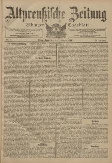 Altpreussische Zeitung, Nr. 8 Donnerstag 11 Januar 1900, 52. Jahrgang