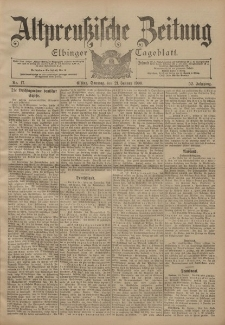 Altpreussische Zeitung, Nr. 17 Sonntag 21 Januar 1900, 52. Jahrgang