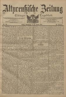 Altpreussische Zeitung, Nr. 22 Sonnabend 27 Januar 1900, 52. Jahrgang