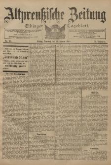 Altpreussische Zeitung, Nr. 23 Sonntag 28 Januar 1900, 52. Jahrgang