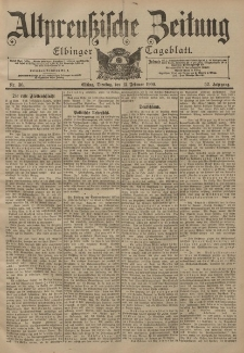 Altpreussische Zeitung, Nr. 36 Dienstag 13 Februar 1900, 52. Jahrgang